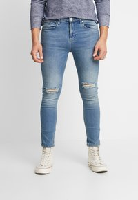 Daily Basis Studios - SKINNY FIT CAST - Jeans Skinny Fit - blue rip - 0