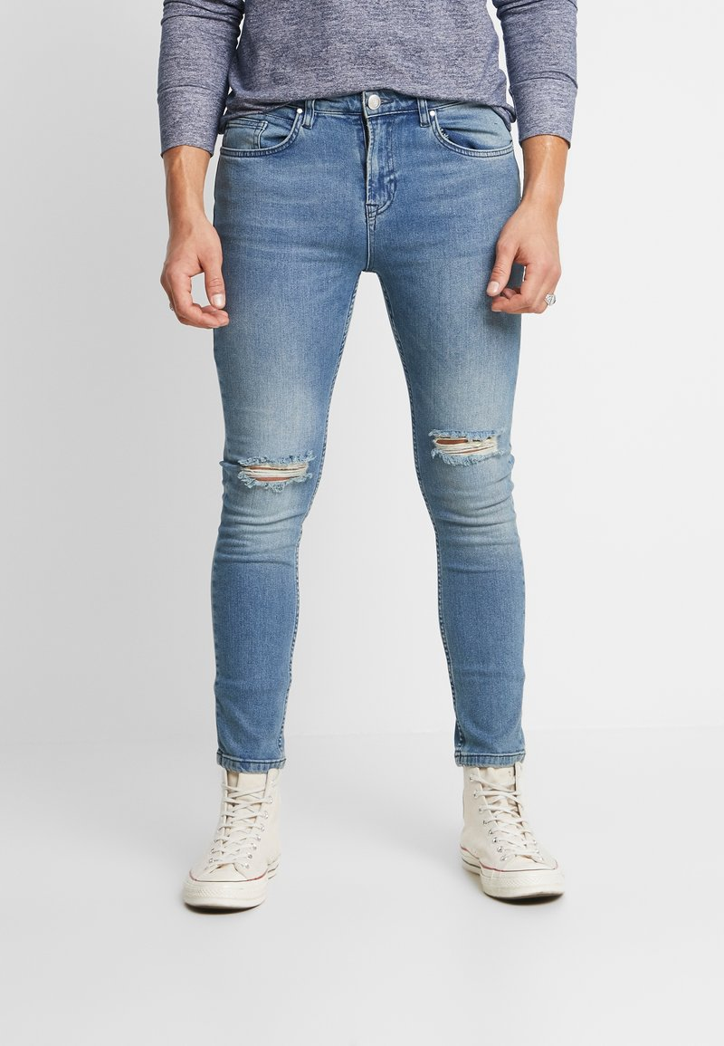 Daily Basis Studios - SKINNY FIT CAST - Jeans Skinny Fit - blue rip