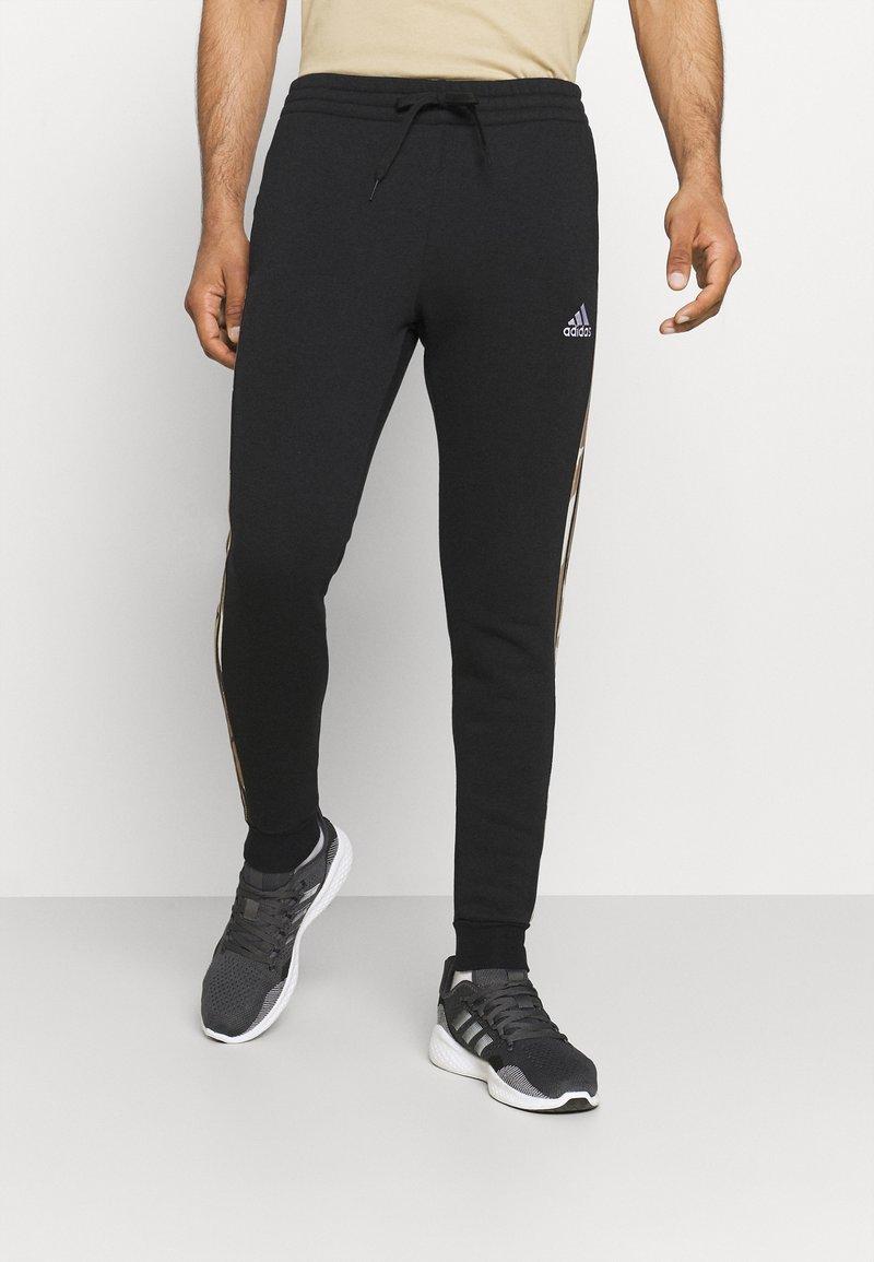 adidas Performance - CAMO - Träningsbyxor - black/white