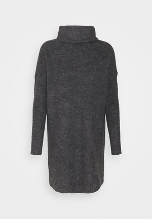 ONLJANA COWLNK DRESS - Strikket kjole - dark grey melange