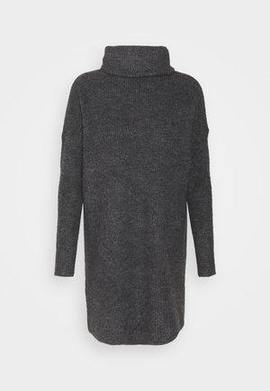 ONLJANA COWLNK DRESS - Neulemekko - dark grey melange