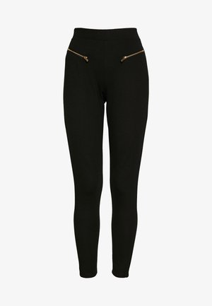 ZIP PUNTO LEGGINGS - Legíny - black