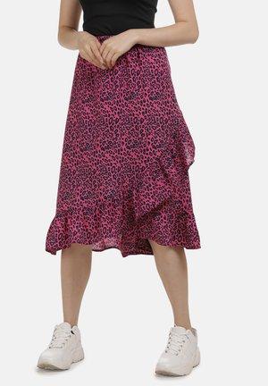 A-line skirt - neon pink leo