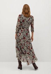 Mango - MOTIFS FLORAUX - Długa sukienka - noir - 2