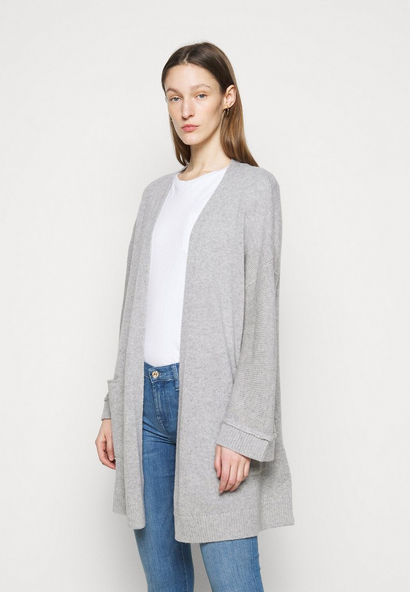 FTC Cashmere - CARDIGAN LONG - Cardigan - silver stone