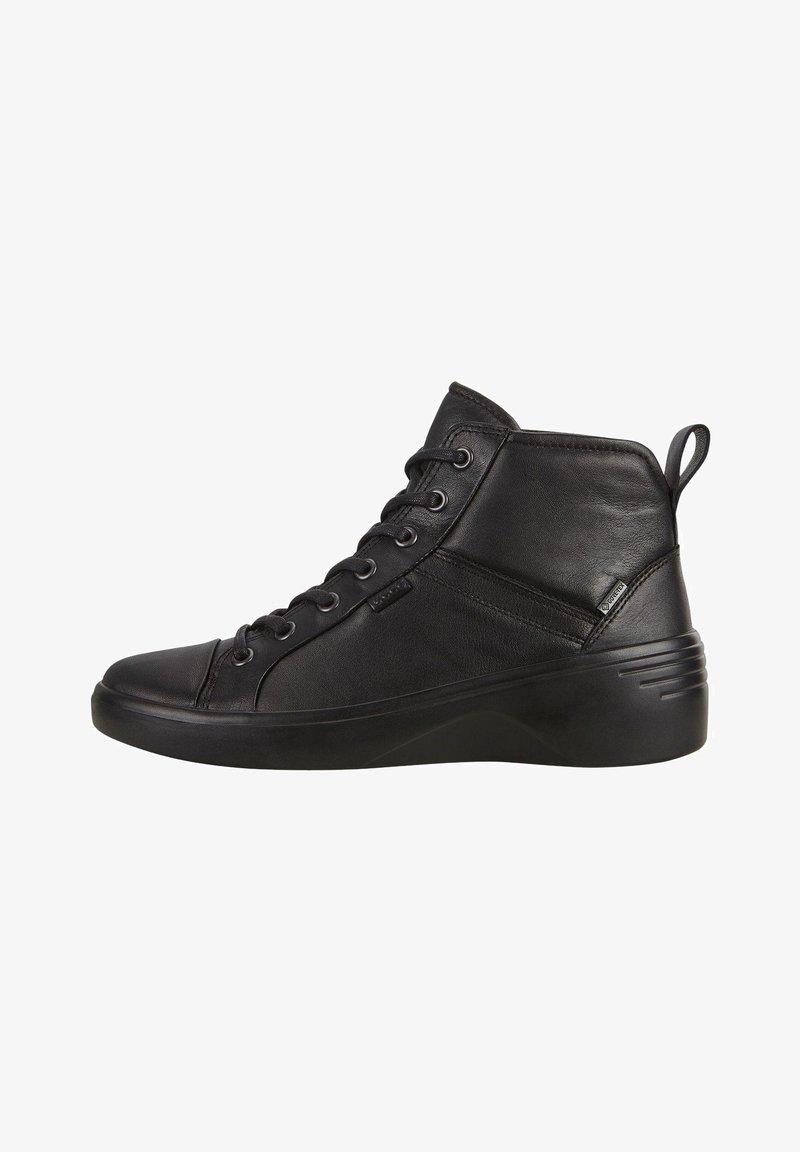 ECCO - SOFT  - Lace-up ankle boots - black/black