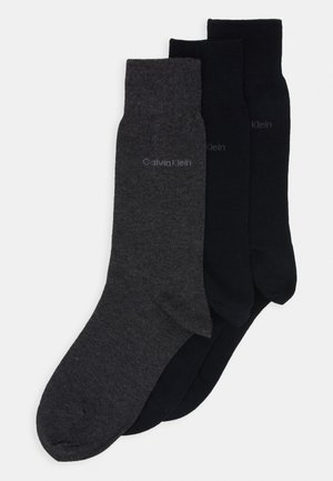 MEN CREW COMBED FLAT ERIC 3 PACK - Socks - dark blue