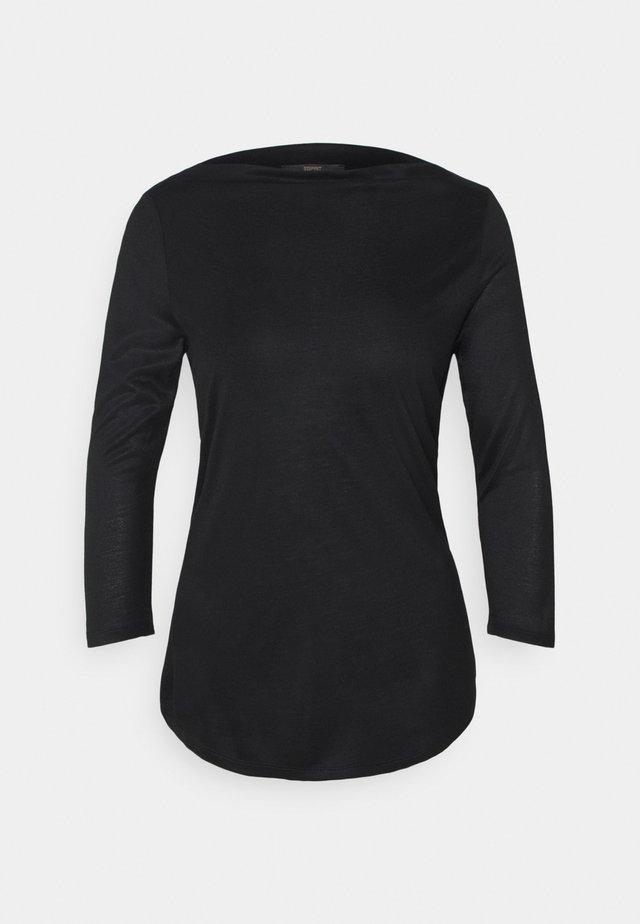 SLASH NECK TEE - Bluzka z długim rękawem - black