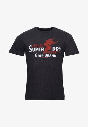 Print T-shirt - charcoal marl