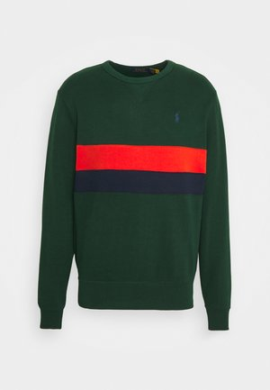 Sweatshirt - green/orange