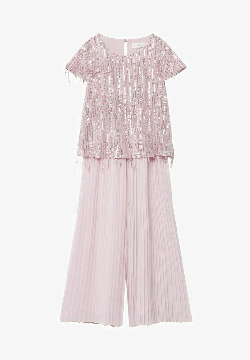 Mango - Kalhoty - rosa pastello