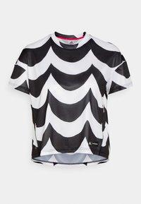adidas Performance - MARIMEKKO TEE - Sportshirt - black/white - 0