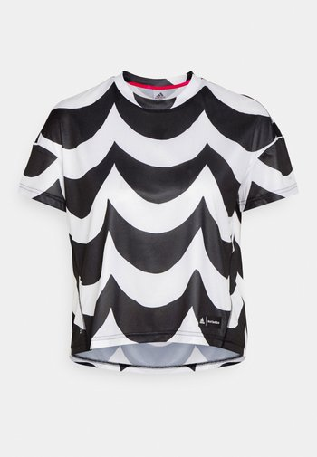 MARIMEKKO TEE - Sports shirt - black/white