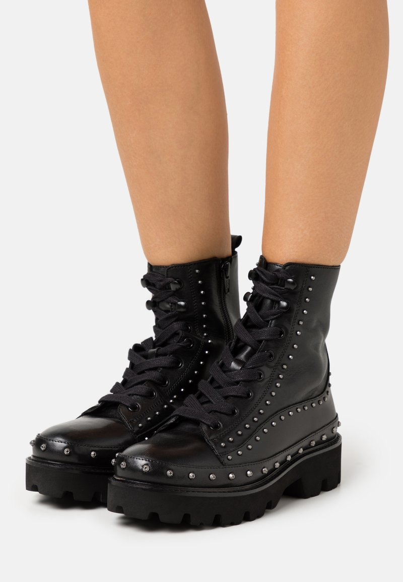 Pinko - CINGOLI - Lace-up ankle boots - nero limousine