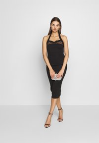 Lost Ink - BODYCON DRESS - Etuikjole - black - 1