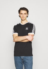 adidas Originals - STRIPES TEE - T-shirt imprimé - black