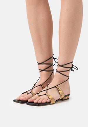 ESME - T-bar sandals - canary