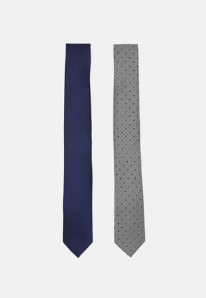 2 PACK - Cravatta - dark blue/black/white