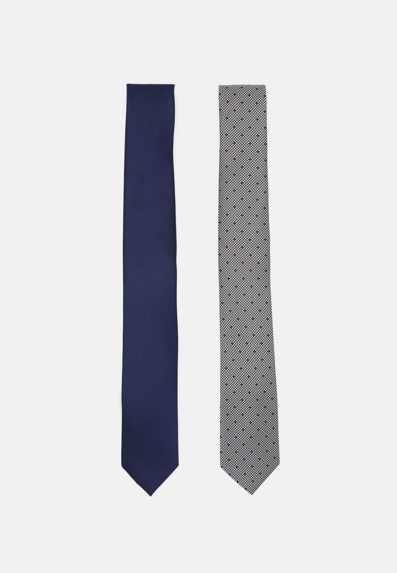 Pier One - 2 PACK - Kravata - dark blue/black/white