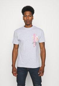 Common Kollectiv - FLORAL UNISEX - T-shirt print - grey marl - 0