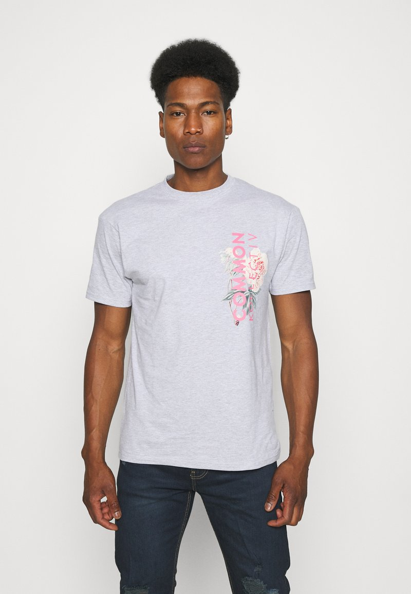 Common Kollectiv - FLORAL UNISEX - T-shirt print - grey marl