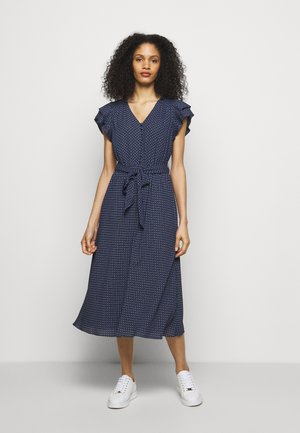 DRAPEY DRESS - Day dress - french navy/pale