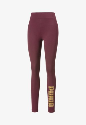 Leggings - burgundy-gold