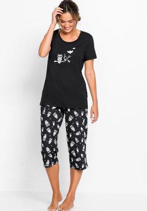 MIT KURZEN ÄRMELN - Pyjama - schwarz