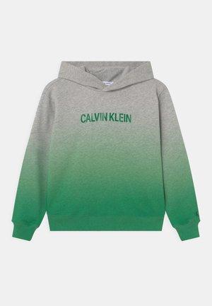 GRADIENT RELAXED LOGO HOODIE - Sweatshirt - green gradient