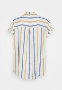 TOM TAILOR DENIM - STRUCTURE STRIPE - Button-down blouse - creme yellow/blue - 1