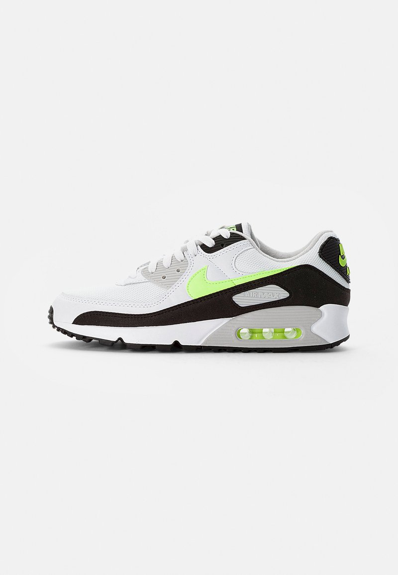 Nike Sportswear - AIR MAX - Sneakersy niskie - white/hot lime-black-neutral grey