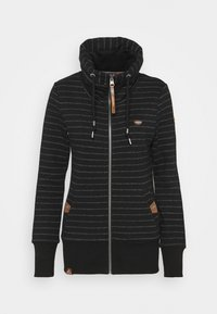 Ragwear - RYLIE STRIPE ZIP - Zip-up hoodie - black - 4