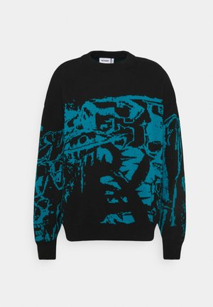JOHN OVERSIZED UNISEX  - Stickad tröja - black/graveyard