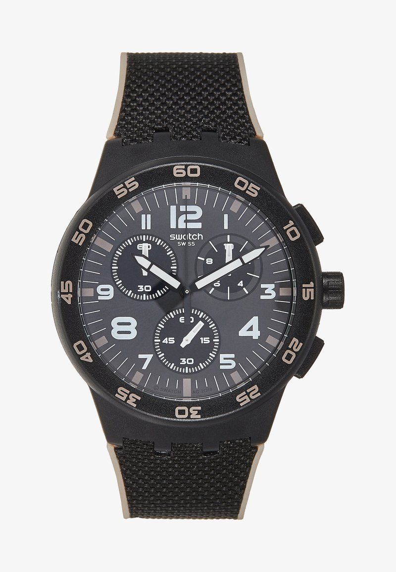 Swatch - Hodinky se stopkami - black