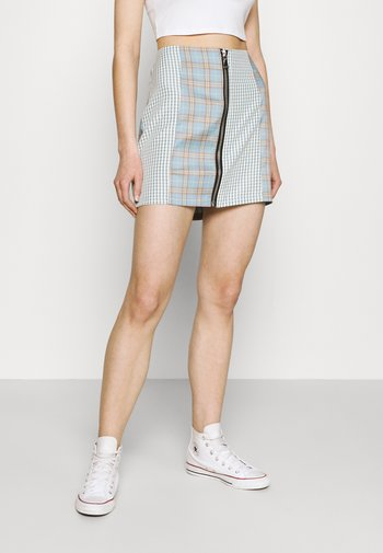 GUIDANCE - Mini skirt - blue
