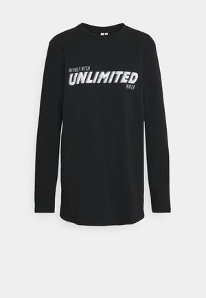 OVERSIZE STATEMENT TEE - Long sleeved top - black