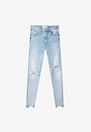 Jeans Skinny Fit - mottled light blue