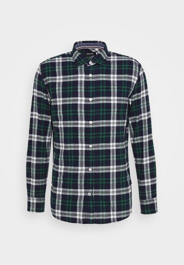 Jack & Jones JJEWILL CHECK SHIRT - Koszula - olive night/khaki Odzież Męska LEDD