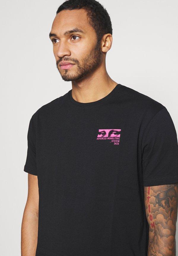 YOURTURN UNISEX - T-shirt z nadrukiem - black/czarny Odzież Męska ZMWC