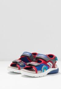 Geox - FLEXYPER - Walking sandals - grey/red - 2