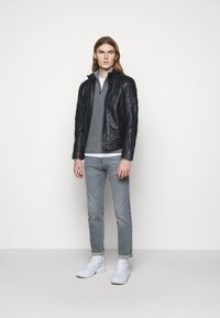 JOOP! Jeans - LIMA - Kožená bunda - dark navy - 1