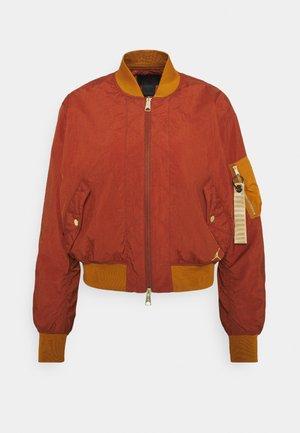 FLIGHT - Bomber Jacket - rugged orange/russet
