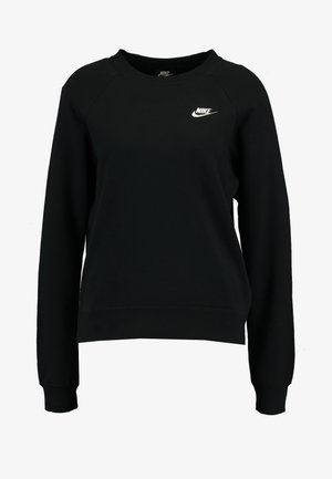 W NSW ESSNTL CREW FLC - Sweatshirts - black/white