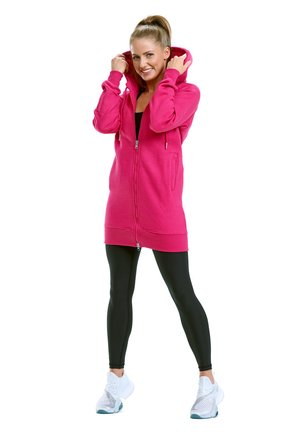 veste en sweat zippée - deep pink