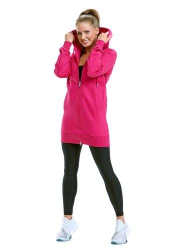 Zip-up sweatshirt - deep pink