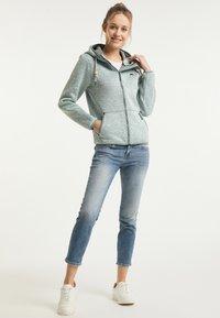Schmuddelwedda - Fleece jacket - rauchmint melange - 1
