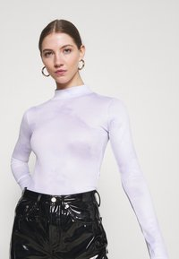 Missguided - HIGH NECK BODYSUIT - Long sleeved top - blue - 3