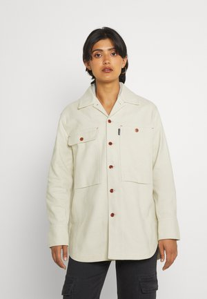 BOYFRIEND OVERSHIRT - Summer jacket - ecru