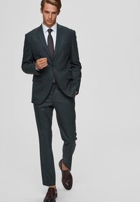 Selected Homme - SLIM FIT - Suit trousers - dark green - 1