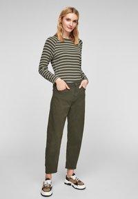 s.Oliver - Jumper - khaki stripes - 1